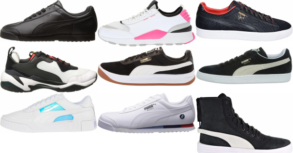 buy black puma sneakers for men and women