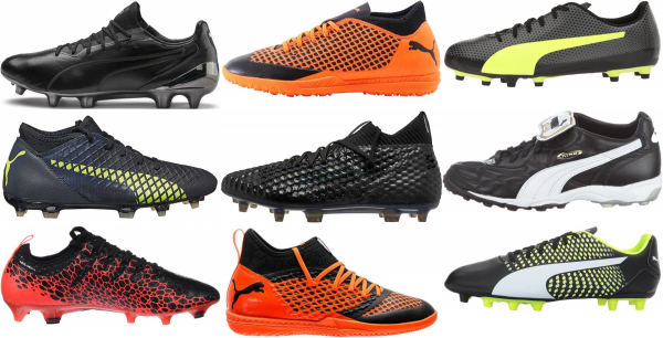 buy black puma soccer cleats for men and women