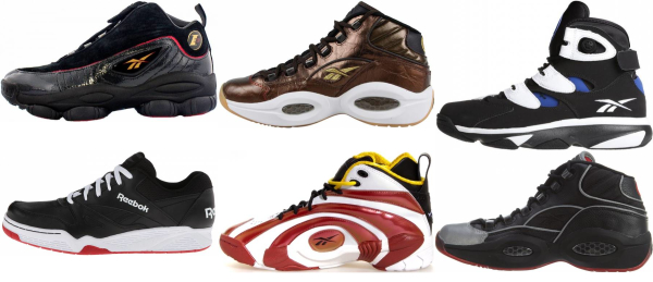 buy black reebok basketball shoes for men and women