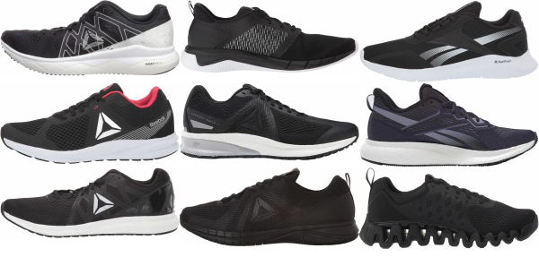 buy black reebok running shoes for men and women