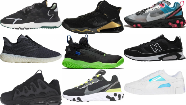 buy black reflective sneakers for men and women