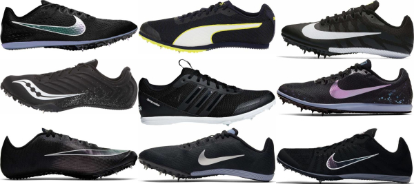 buy black removable spikes track & field shoes for men and women
