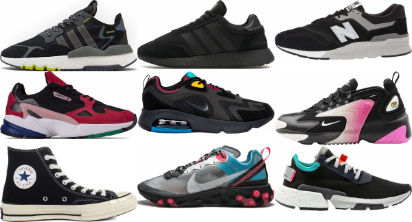 buy black retro sneakers for men and women