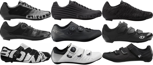 buy black road cycling shoes for men and women