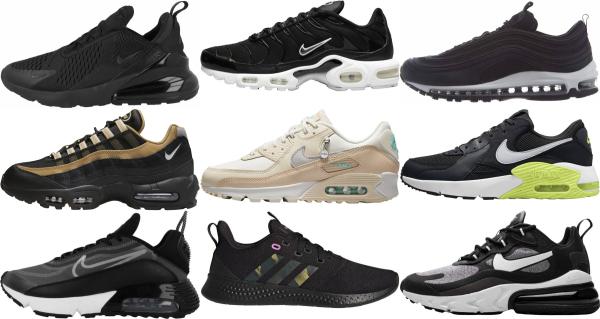 buy black running sneakers for men and women