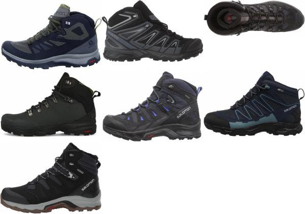 buy black salomon hiking boots for men and women