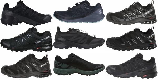 buy black salomon running shoes for men and women