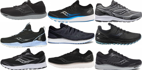buy black saucony running shoes for men and women