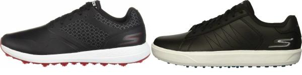 buy black skechers golf shoes for men and women