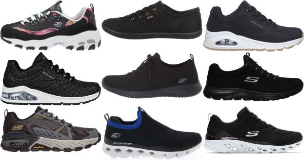 buy black skechers sneakers for men and women