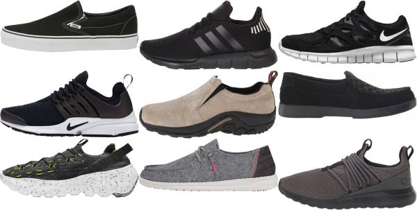 buy black slip-on sneakers for men and women