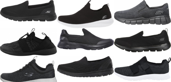 buy black slip-on walking shoes for men and women