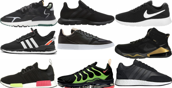 buy black sneakers for men and women