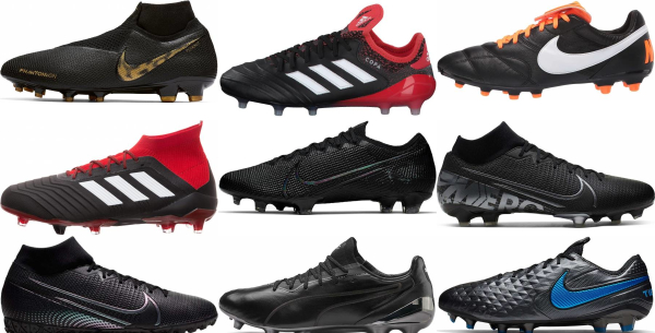 buy black soccer cleats for men and women