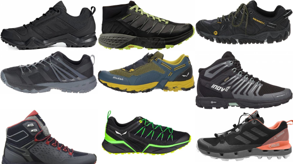 buy black speed hiking shoes for men and women