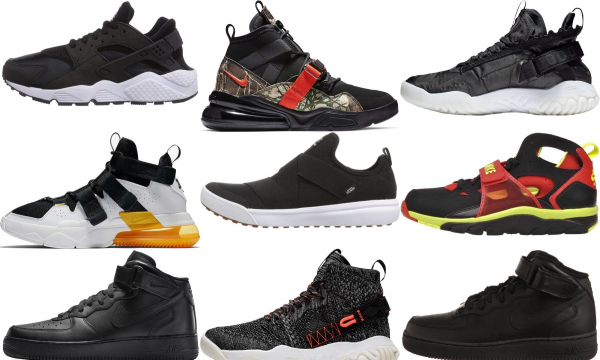 buy black strap sneakers for men and women