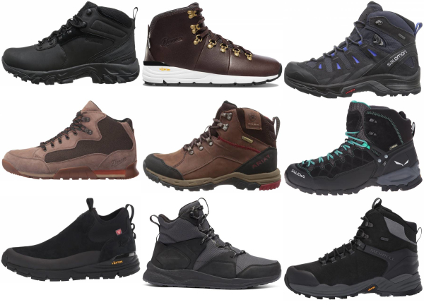 buy black suede hiking boots for men and women