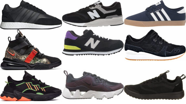 buy black suede sneakers for men and women