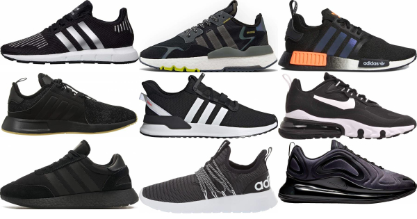 buy black summer sneakers for men and women