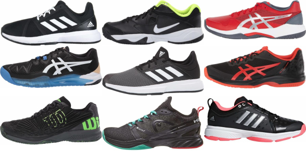 buy black synthetic upper tennis shoes for men and women