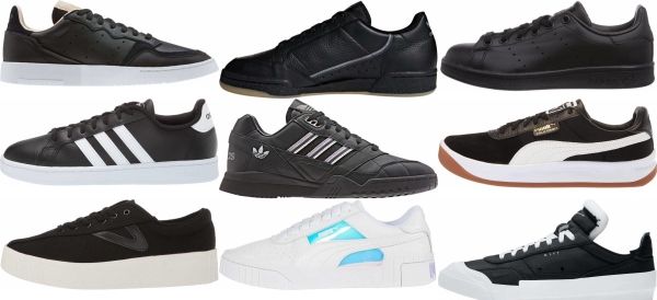 buy black tennis sneakers for men and women