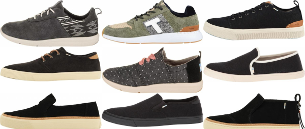 buy black toms sneakers for men and women