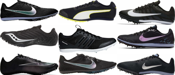 buy black track & field shoes for men and women