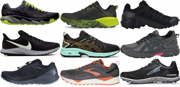 buy black trail running shoes for men and women