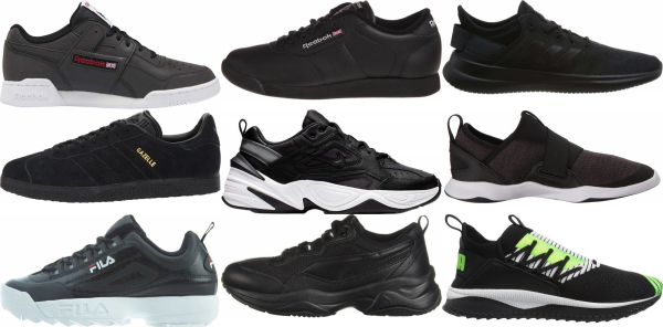 buy black training sneakers for men and women