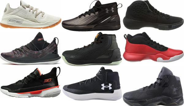 buy black under armour basketball shoes for men and women
