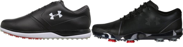 buy black under armour golf shoes for men and women
