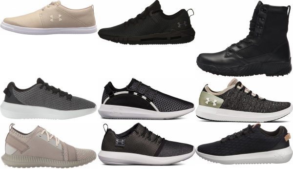 buy black under armour sneakers for men and women