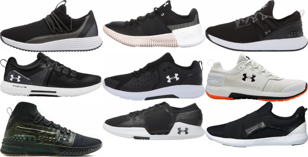 buy black under armour training shoes for men and women