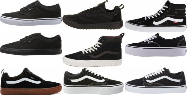 buy black vans sneakers for men and women