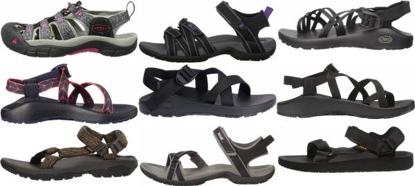 buy black vegan hiking sandals for men and women