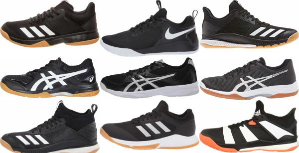 buy black volleyball shoes for men and women