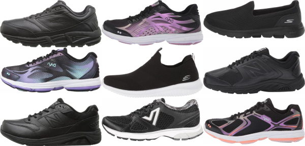 buy black walking shoes for men and women