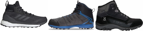 buy black water repellent hiking boots for men and women