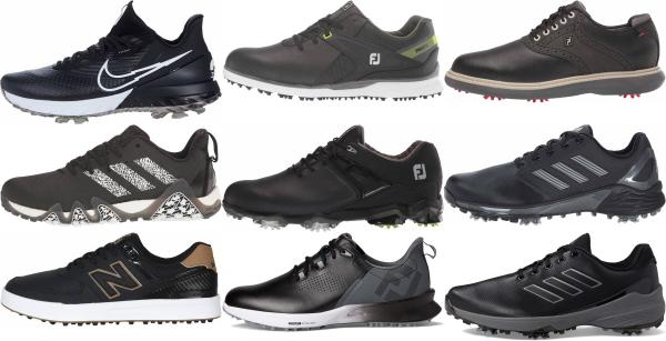 buy black waterproof golf shoes for men and women