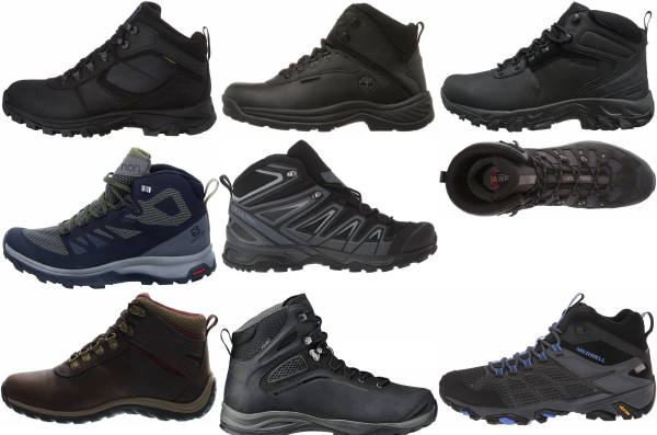 buy black waterproof hiking boots for men and women