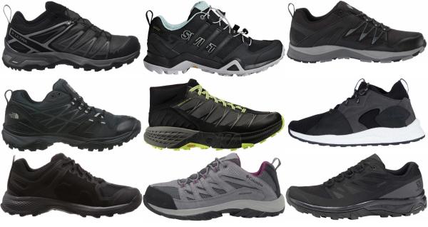 buy black waterproof hiking shoes for men and women