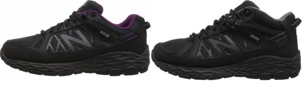 buy black waterproof walking shoes for men and women