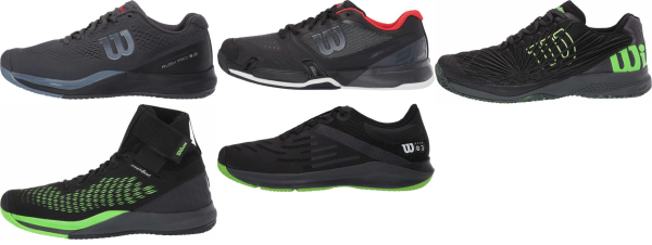 buy black wilson tennis shoes for men and women