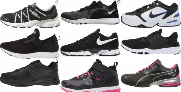buy black workout shoes for men and women