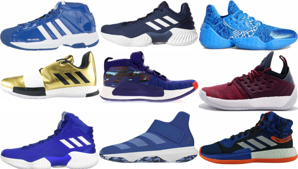 buy blue adidas basketball shoes for men and women