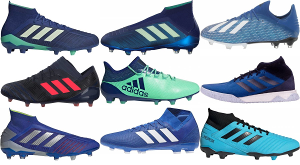 buy blue adidas soccer cleats for men and women