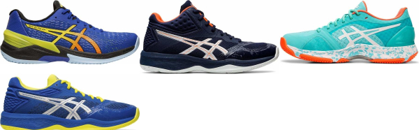 buy blue asics flytefoam volleyball shoes for men and women
