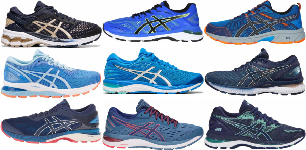 buy blue asics running shoes for men and women