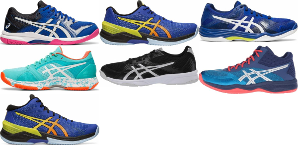 buy blue asics volleyball shoes for men and women