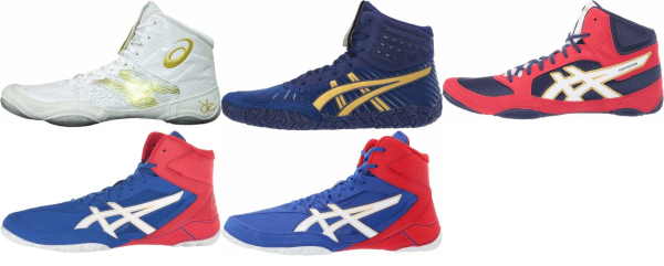buy blue asics wrestling shoes for men and women